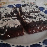 Mega czekoladowe brownie z wiórkami kokosowymi