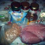 Składniki użyte do przygotowania dania