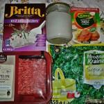 Produkty użyte do przygotowania dania, wszystkie z Biedronki ;) W słoiku jest olej kokosowy - do kupienia w sklepach ze zdrową żywnością i w Internecie.