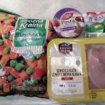 Składniki użyte do przygotowania dania. Uwaga przy zakupie pasty z suszonych pomidorów - nie może zawierać sera!
