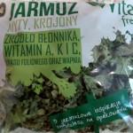 Opakowanie liści jarmużu zakupione w Biedronce