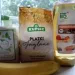 Składniki wykorzystane do pieczenia ciastek jaglano-kokosowych