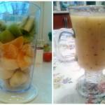 Koktajl z kiwi, mandarynek i banana