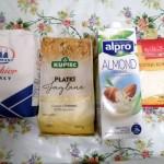 Produkty użyte do przygotowania ciasta