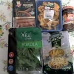 Składniki użyte do przygotowania dania (wszystkie zakupione w Biedronce)