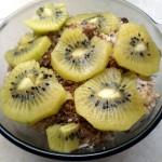 Płatki jaglane z bananem i kiwi