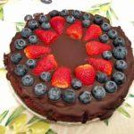 Bezglutenowy tort czekoladowy brownie